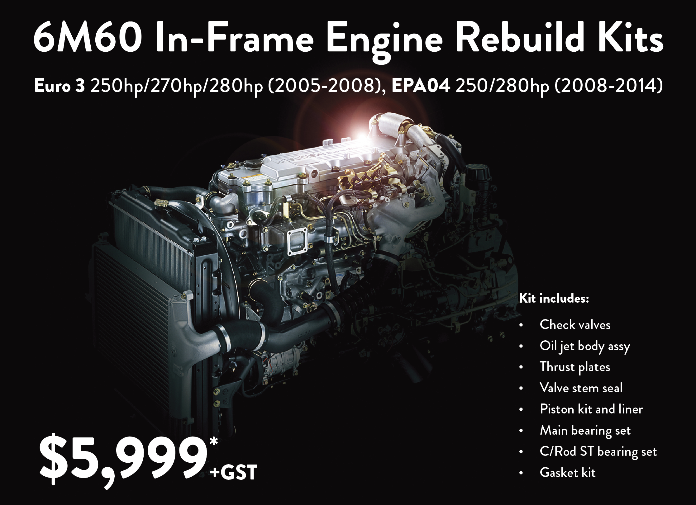 In-Frame Engine Kits - Fuso NZ